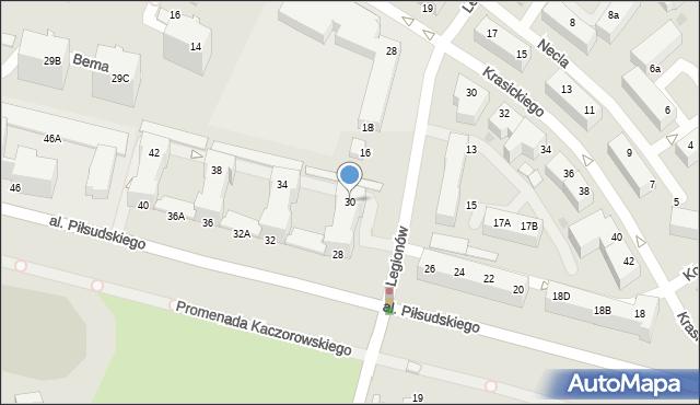 Gdynia, Aleja Piłsudskiego Józefa, marsz., 30, mapa Gdyni