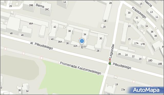 Gdynia, Aleja Piłsudskiego Józefa, marsz., 32/34, mapa Gdyni