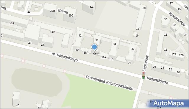 Gdynia, Aleja Piłsudskiego Józefa, marsz., 36/38, mapa Gdyni