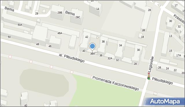Gdynia, Aleja Piłsudskiego Józefa, marsz., 36A, mapa Gdyni