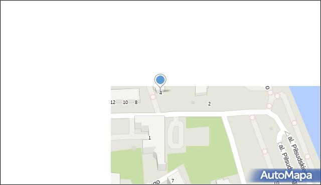 Gdynia, Aleja Piłsudskiego Józefa, marsz., 4, mapa Gdyni