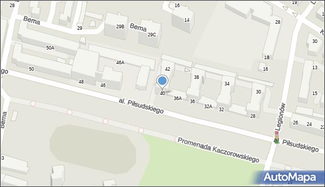 Gdynia, Aleja Piłsudskiego Józefa, marsz., 40/42, mapa Gdyni