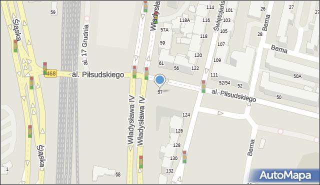 Gdynia, Aleja Piłsudskiego Józefa, marsz., 57, mapa Gdyni