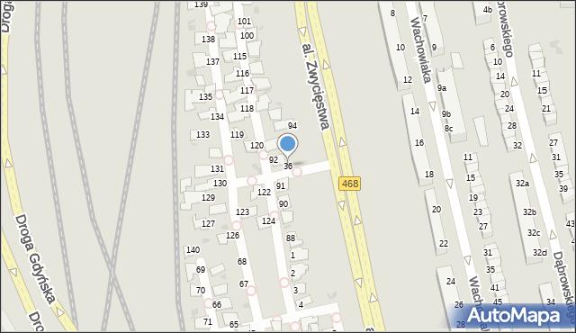 Gdynia, Aleja Zwycięstwa, 36/109, mapa Gdyni