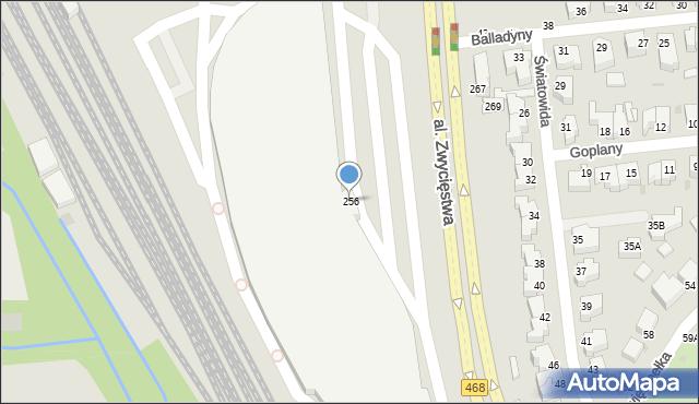 Gdynia, Aleja Zwycięstwa, 256p, mapa Gdyni