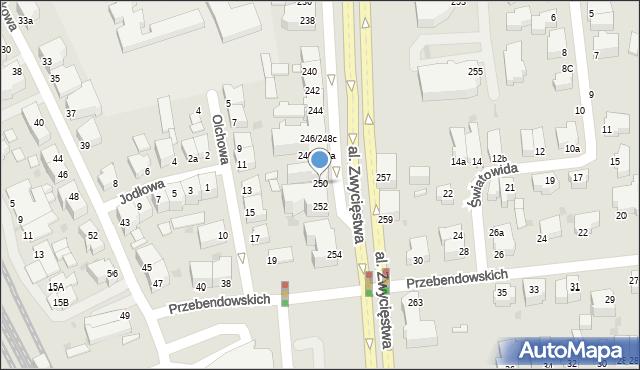 Gdynia, Aleja Zwycięstwa, 250, mapa Gdyni