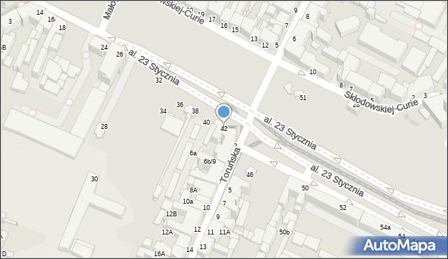 Grudziądz, Aleja 23 Stycznia, 42, mapa Grudziądza