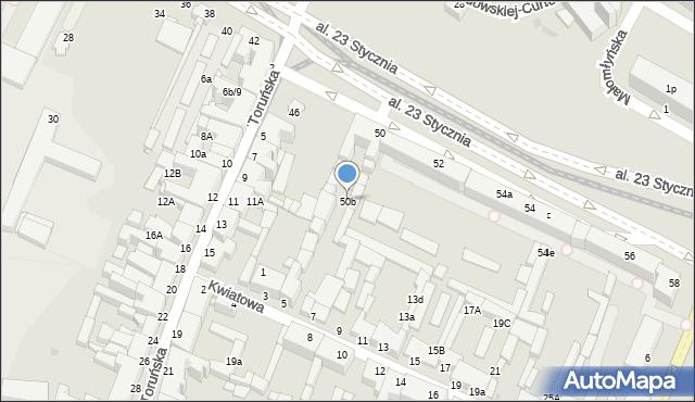 Grudziądz, Aleja 23 Stycznia, 50b, mapa Grudziądza