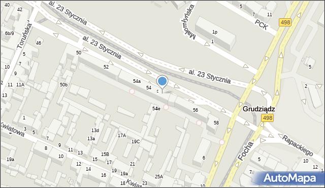 Grudziądz, Aleja 23 Stycznia, 54d, mapa Grudziądza