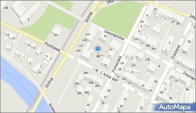 Kołobrzeg, Aleja 1 Armii Wojska Polskiego, 8A, mapa Kołobrzegu