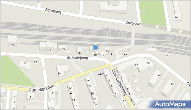 Kołobrzeg, Aleja Kolejowa, 10, mapa Kołobrzegu