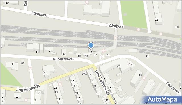 Kołobrzeg, Aleja Kolejowa, 15, mapa Kołobrzegu