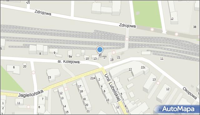 Kołobrzeg, Aleja Kolejowa, 15a, mapa Kołobrzegu