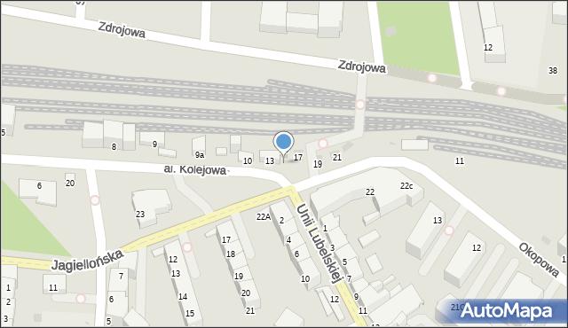 Kołobrzeg, Aleja Kolejowa, 15b, mapa Kołobrzegu