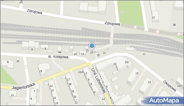 Kołobrzeg, Aleja Kolejowa, 17, mapa Kołobrzegu