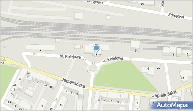 Kołobrzeg, Aleja Kolejowa, 3, mapa Kołobrzegu