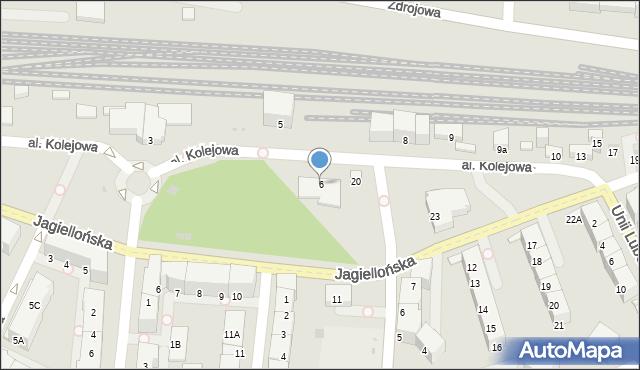 Kołobrzeg, Aleja Kolejowa, 6, mapa Kołobrzegu