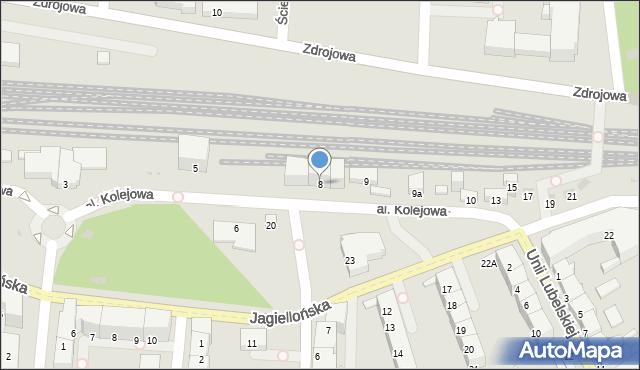 Kołobrzeg, Aleja Kolejowa, 8, mapa Kołobrzegu