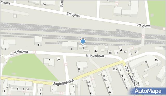 Kołobrzeg, Aleja Kolejowa, 9, mapa Kołobrzegu
