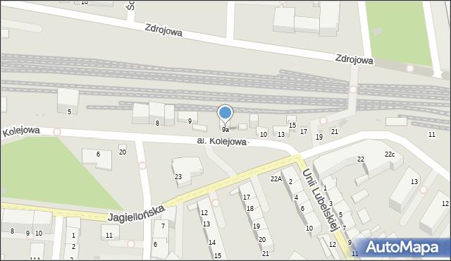 Kołobrzeg, Aleja Kolejowa, 9a, mapa Kołobrzegu