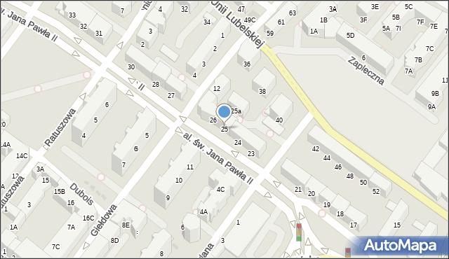 Kołobrzeg, Aleja św. Jana Pawła II, 25, mapa Kołobrzegu