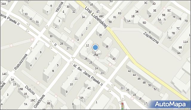 Kołobrzeg, Aleja św. Jana Pawła II, 25a, mapa Kołobrzegu