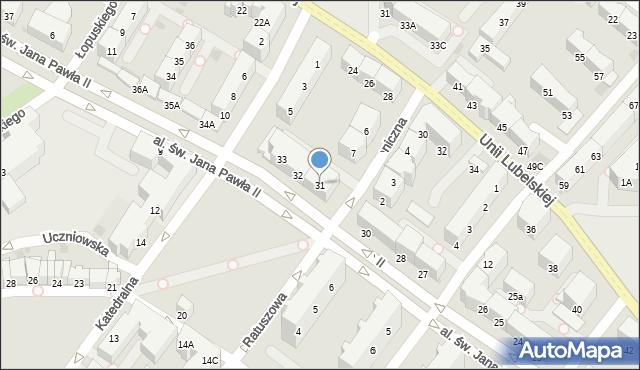 Kołobrzeg, Aleja św. Jana Pawła II, 31, mapa Kołobrzegu