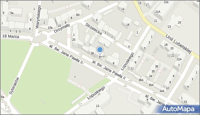 Kołobrzeg, Aleja św. Jana Pawła II, 37, mapa Kołobrzegu