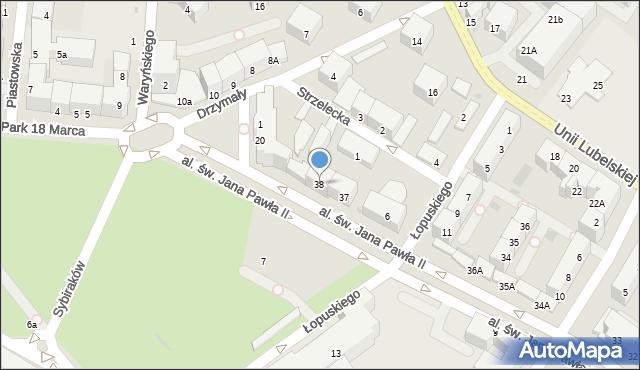 Kołobrzeg, Aleja św. Jana Pawła II, 38, mapa Kołobrzegu