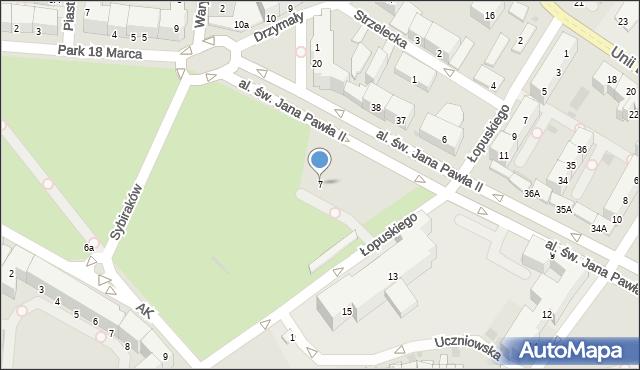 Kołobrzeg, Aleja św. Jana Pawła II, 7, mapa Kołobrzegu