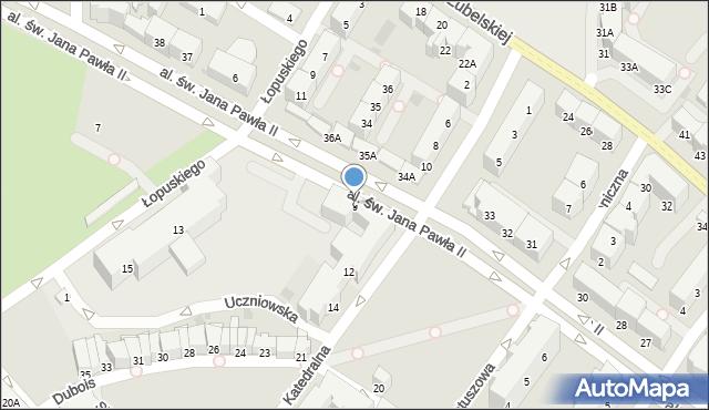 Kołobrzeg, Aleja św. Jana Pawła II, 9, mapa Kołobrzegu