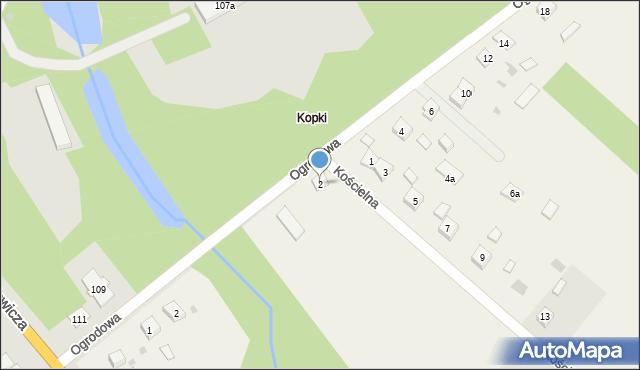 Kopki, Aleja Ogrodowa, 2, mapa Kopki