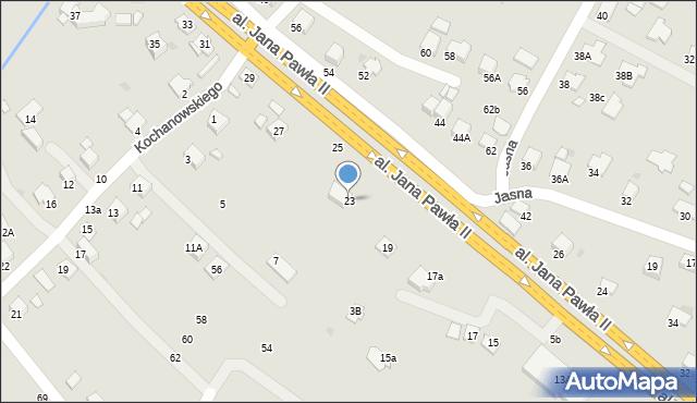 Krosno, Aleja Jana Pawła II, 23, mapa Krosna