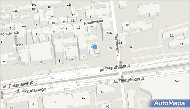 Łódź, Aleja Piłsudskiego Józefa, marsz., 14, mapa Łodzi