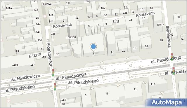 Łódź, Aleja Piłsudskiego Józefa, marsz., 6, mapa Łodzi