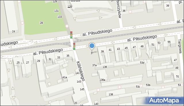 Łódź, Aleja Piłsudskiego Józefa, marsz., 37, mapa Łodzi