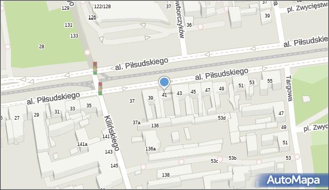 Łódź, Aleja Piłsudskiego Józefa, marsz., 41, mapa Łodzi