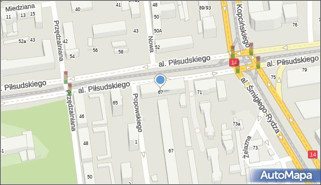 Łódź, Aleja Piłsudskiego Józefa, marsz., 67, mapa Łodzi