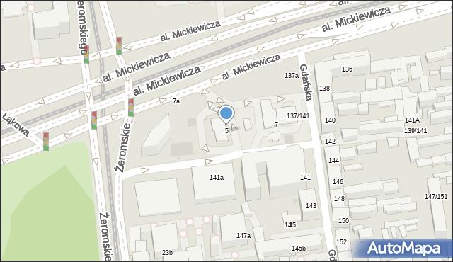 Łódź, Aleja Mickiewicza Adama, 5, mapa Łodzi