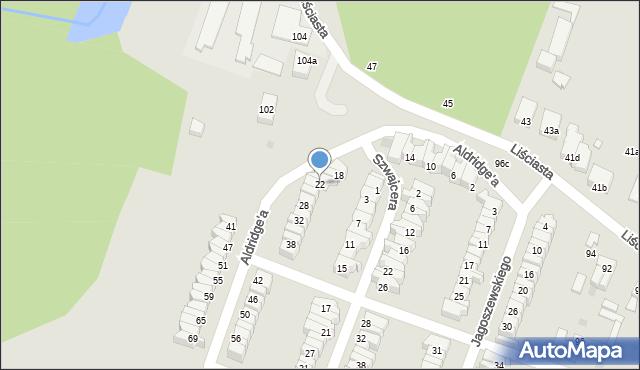 Łódź, Aldridge'a Iry, 22, mapa Łodzi