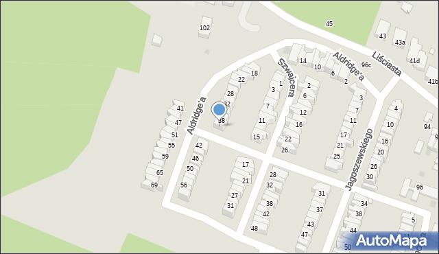 Łódź, Aldridge'a Iry, 40, mapa Łodzi