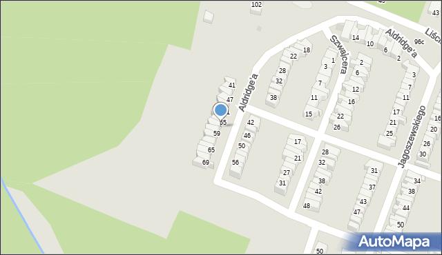 Łódź, Aldridge'a Iry, 57, mapa Łodzi