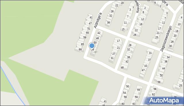 Łódź, Aldridge'a Iry, 60, mapa Łodzi