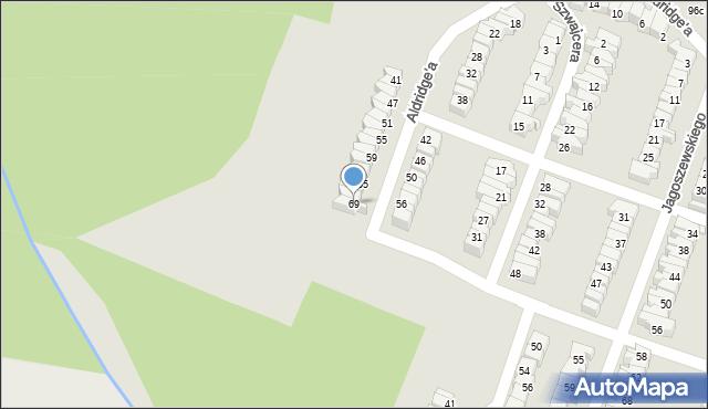 Łódź, Aldridge'a Iry, 69, mapa Łodzi