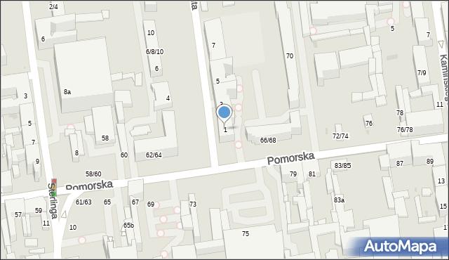 Łódź, Aleja Anstadta Karola, 1, mapa Łodzi