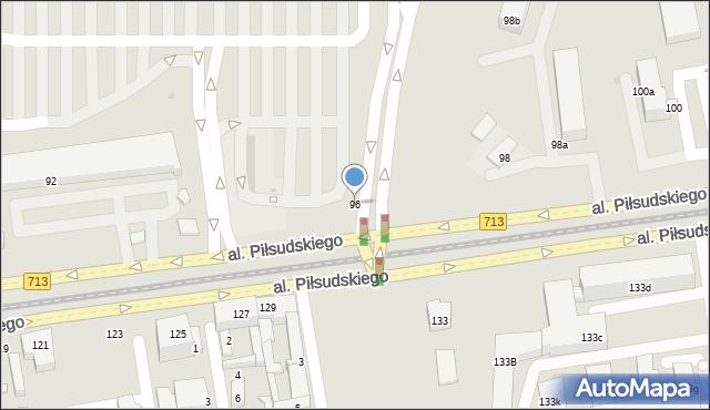 Łódź, Aleja Piłsudskiego Józefa, marsz., 96, mapa Łodzi