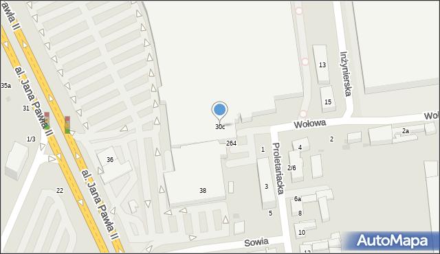 Łódź, Aleja Jana Pawła II, 30c, mapa Łodzi