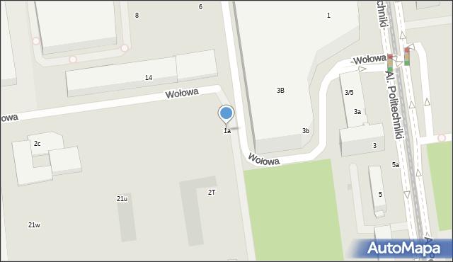 Łódź, Aleje Politechniki, 1a, mapa Łodzi