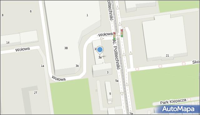 Łódź, Aleje Politechniki, 3a, mapa Łodzi