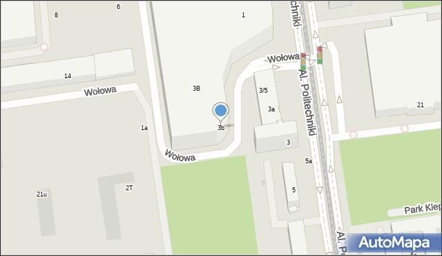 Łódź, Aleje Politechniki, 3b, mapa Łodzi